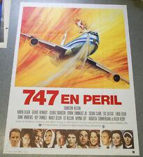 Affiche de cinéma : 747 EN PERIL de Jack SMIGHT