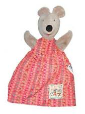 """Moulin Roty Plush Nini Mouse Hand Puppet Toy 10"""" La Grande Famille Red Dress"""