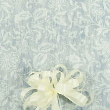125' White Floral Lace Print Wedding Aisle Runner W/Tape&Rope