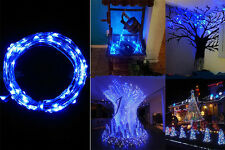 2M 20 LED Blue String Fairy Lights Indoor/Outdoor Xmas Christmas Party