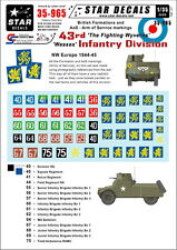 Star Decals 1/35 Markings for British 43rd 'Wessex' Infantry Division 1944-45
