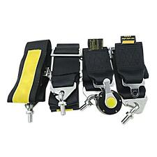 """4 Point Racing Safety Harness Camlock 3"""" Inch Strap Seat Belt Black"""