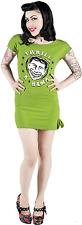 77466 Green Thrill A Rama Kitschy Tunic Dress Sourpuss Retro Carnival Circus LG