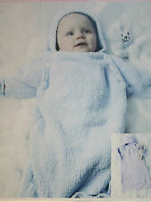 Baby's Sleeping Bag and Rabbit Toy Knitting Pattern