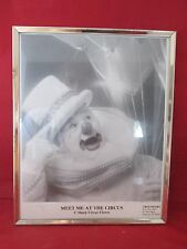 Meet Me at The Circus C Sharp Circus Clown Photo Autographed and Framed