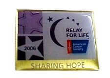 Relay for Life Retired Lapel Pin Sharing Hope 2006 Collector Tac