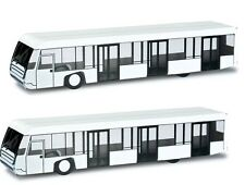 Herpa 556071 Airport Diorama Bus set of two buses 1:200 Scale Mint in Box