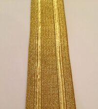 """Gold Lace, 1.25"""" wide, 3.5cm, Army, RAF, Navy, Braid, Military, Uniform, Fancy"""