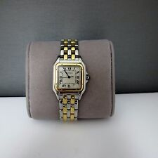 CARTIER PANTHERE DATE TWO TONE STEEL/18K YELLOW GOLD 27MM WATCH