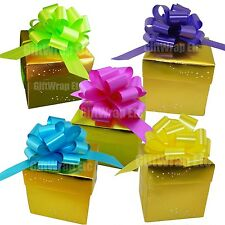 30 Pull Bows Turquoise Purple Pink Yellow Lime Gift Wrap Baskets Christmas Party