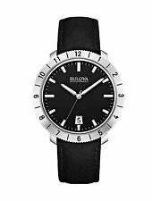 Bulova Accutron II Moonview Black Leather Strap Watch