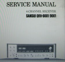 SANSUI QRX-8001 QRX-9001 4 CHANNEL RECEIVER SERVICE MANUAL INC SCHEMS ENGLISH