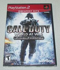 Call of Duty World At War Final Fronts for Playstation 2 Brand New! Factory Seal