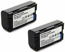 2x 7.2v Battery for Panasonic NV-MX1000 NV-MX2000 NV-MX2500 NV-MX3000 NV-MX5000
