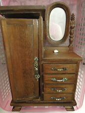 DOLLHOUSE furniture: dresser with drawers, mirror, needs TLC  cp-590