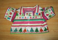 """15-16"""" CPK Cabbage Patch Kids CHRISTMAS STRIPES TREE PRESENTS BUTTON FRONT SHIRT"""