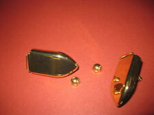 VINTAGE DANSETTE  RECORD PLAYER CABINET SPARES BRASS HANDLE CLASPS
