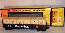 MTH 30-72009 Canadian Pacific Gondola w/ Crate Load CP 344397 Beaver logo O /027