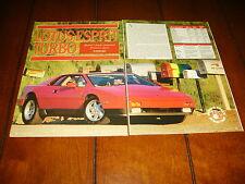 1988 LOTUS ESPRIT TURBO ***ORIGINAL ARTICLE / SPECIFICATIONS***
