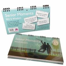 Senior Moments Wit & Wisdom Spiral Bound Desk/Wall Signs Book Gift. Christmas