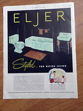1950 Eljer Styled Bathrooms Ad    Vitreous China Lavatories