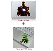 "Iron Man and Hulk Macbook Sticker Decal Macbook Air/Pro/Retina 13""15""17"""