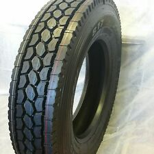 (4-TIRES) 11R24.5 DRIVE TIRES NEW HEAVY DUTY ROAD WARRIOR 16 PLY TRUCK TIRES