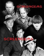 Three 3 Stooges STUNNING archival print 16x20 photo LARGE! double exposure RARE