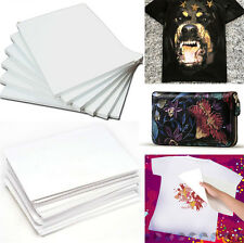 10pcs A4 T-Shirt Iron-On Inkjet Print Transfer Heat Paper For Fabric Cloth DIY