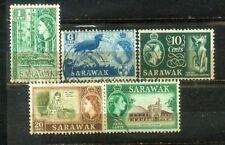 Malaya Malaysia 1955-57 Sarawak Stamps. Wmk Block CA.
