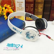 Anime Hatsune Miku White Headphone Headset Earphone Figure Emblem New in Box