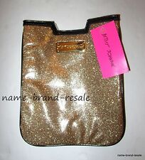 BETSEY JOHNSON $48 NWT Gold Glitter eReader Sleeve Cover iPad Nook Kindle Fire
