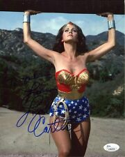 LYNDA CARTER HAND SIGNED 8x10 COLOR PHOTO     WONDER WOMAN        TO MIKE   JSA