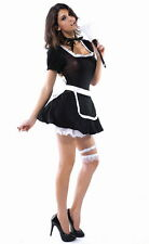 Sexy Women's French Night Maid Fancy Dress Costume Outfit Role Play