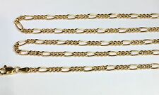 18k Solid Yellow Gold Italian Figaro Chain/Necklace, 22 Inches, 5.78 Grams