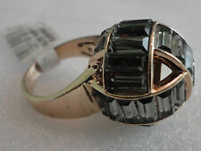 HENRI BENDEL DELUXE HARRY KNOT RING IN SIZE 8 BLACK/GOLD NWT