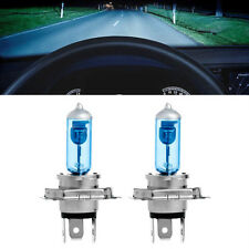2 x Super White Car Auto H4 HID Xenon Headlight 12V 100W Halogen Bulb Lamp Light