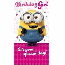DESPICABLE ME / MINIONS / Birthday Card - BDAY GIRL Birthday Card