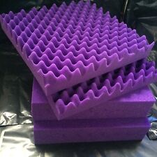 Flame-Retardant Sound-proof Foam Purple Wave Acoustic Panel 6 PCS