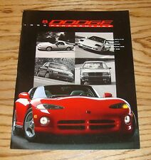 Original 1993 Dodge Viper Performance Sales Brochure 93