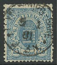 LUXEMBOURG. 1879. 25c Pale Blue, Perf 13 Narrow Margins. SG:53. Fine Used.