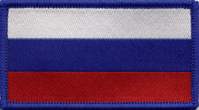 Russian Flag Woven Badge, Patch 8cm x 4.5cm