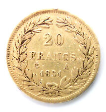 20 Francs Or LOUIS PHILIPPE - 1831 A PARIS - TRANCHE EN RELIEF