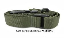 SA80 RIFLE SLINGS IN O.G WEBBING COLOUR SA 80 OR A M4 SLING GR.1