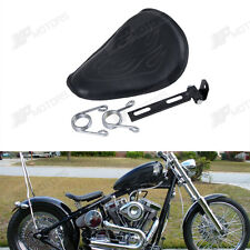 Flame Design Solo Spring Seat for Harley Honda Yamaha Bobber Chopper Customs