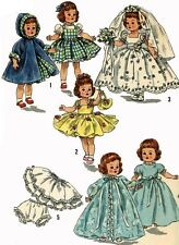 Vintage Doll Clothes Pattern 2294 for 8 in Ginny Muffie Alexander Kin by Vogue