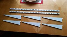 White - Spur Shelving Wall Mounted Twinslot Uprights and Brackets British Made