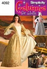 SIMPLICITY PATTERN 4092 MISSES 18TH C MARIE ANTOINETTE GOWNS COSTUME  6-12