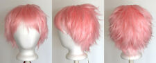 11'' Short Messy Spiky Cotton Candy Pink Synthetic Cosplay Light Wig NEW