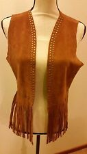 Steve Madden sleeveless faux suede fringes top/vest